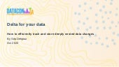 Delta for your Data: How to efficiently track and store deeply nested data changes