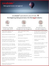 dataEstate® - Reimagining data governance for the Legal industry