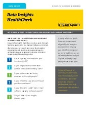 Data Insights HealthCheck