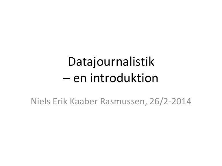 Datajournalistik En Introduktion