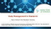 Data Management in Research