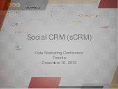 Social CRM - #Datamarketing @DM2013Toronto