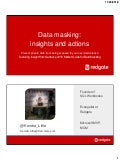 Data masking insights and actions