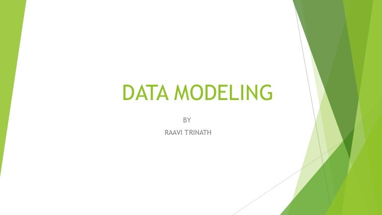 Data Modeling Ppt