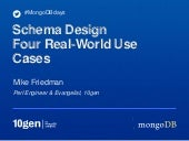 MongoDB Schema Design: Four Real-World Examples