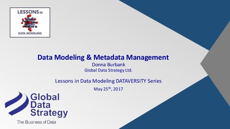 Data Modeling Metadata Management