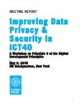 Data privacy and security in ICT4D - Meeting Report