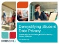 Demystifying Student Data Privacy