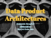 Data Product Architectures