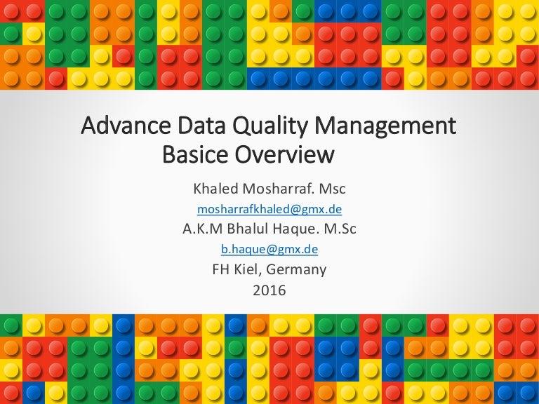 Data Quality Management Basic