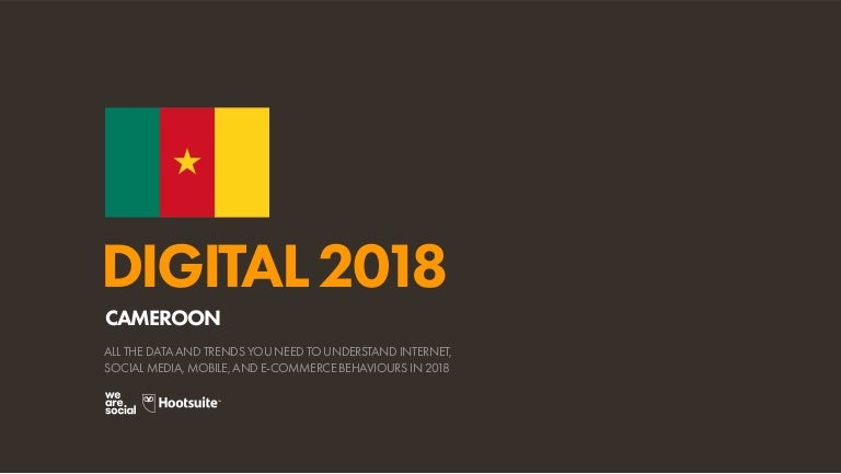 Digital 2018 Cameroon (January 2018)