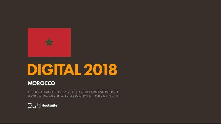 Digital 2018 Morocco (January 2018)