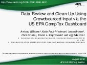 Data Review and Clean-Up Using Crowdsourced Input via the  US EPA CompTox Dashboard