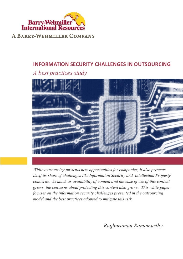 Whitepaper Data Security While Outsourcing Best Practices
