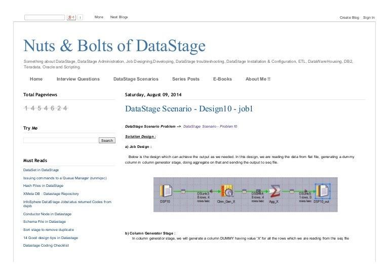Data stage scenario design10 - job1