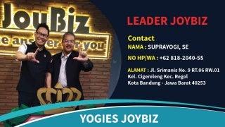 PELUANG BISNIS!! 0818-2040-55 (YOGIES), Join Joybiz Manggarai Barat