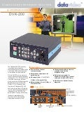 Datavideo DVK-200 Brochure
