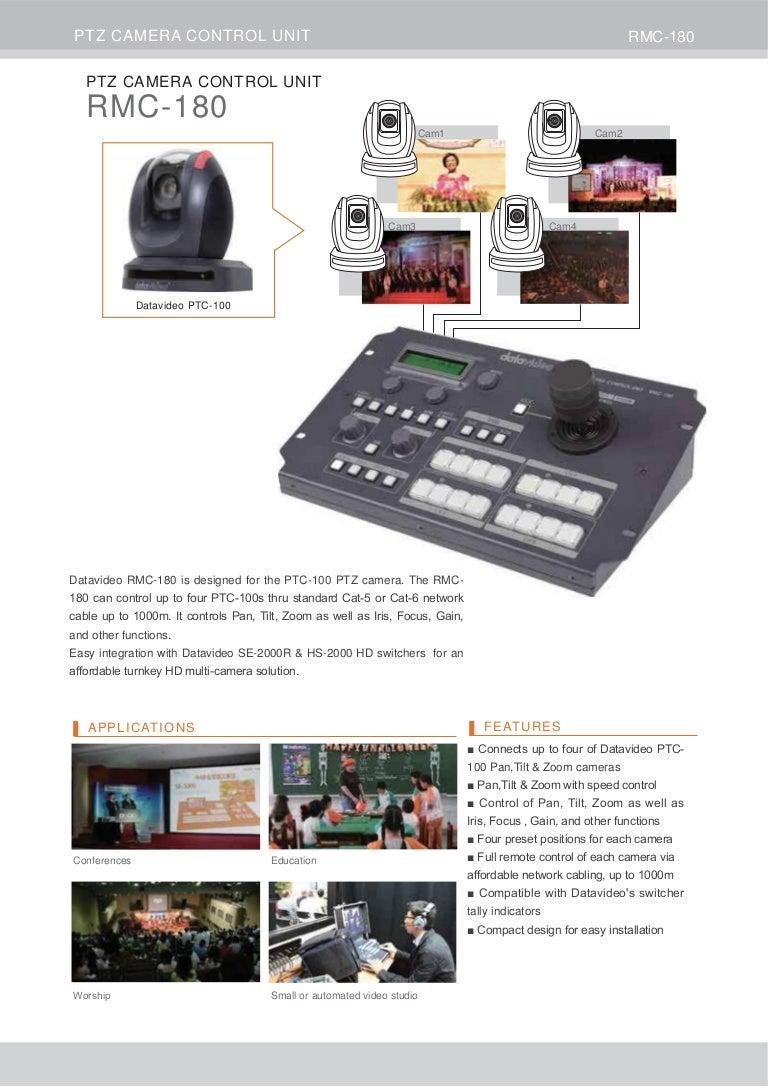 Datavideo RMC-180 Brochure