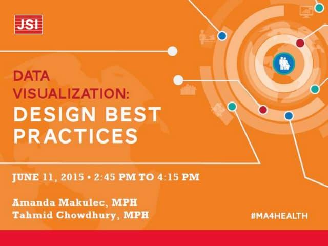 Data Visualization Design Best Practices Workshop
