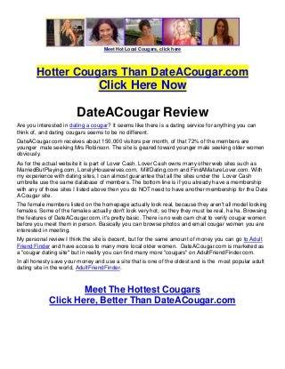 DateACougar Review