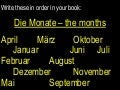 Dates and months