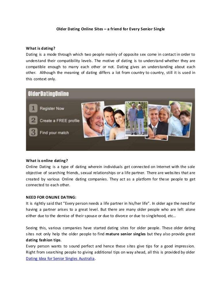 Senior Online Dating tips