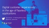 Digital Customer Experiences in the age of faceless applications