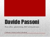 Davide Passoni Press. Servizi di Ufficio Stampa, ghostwriting, SEO writing, comunicazione aziendale
