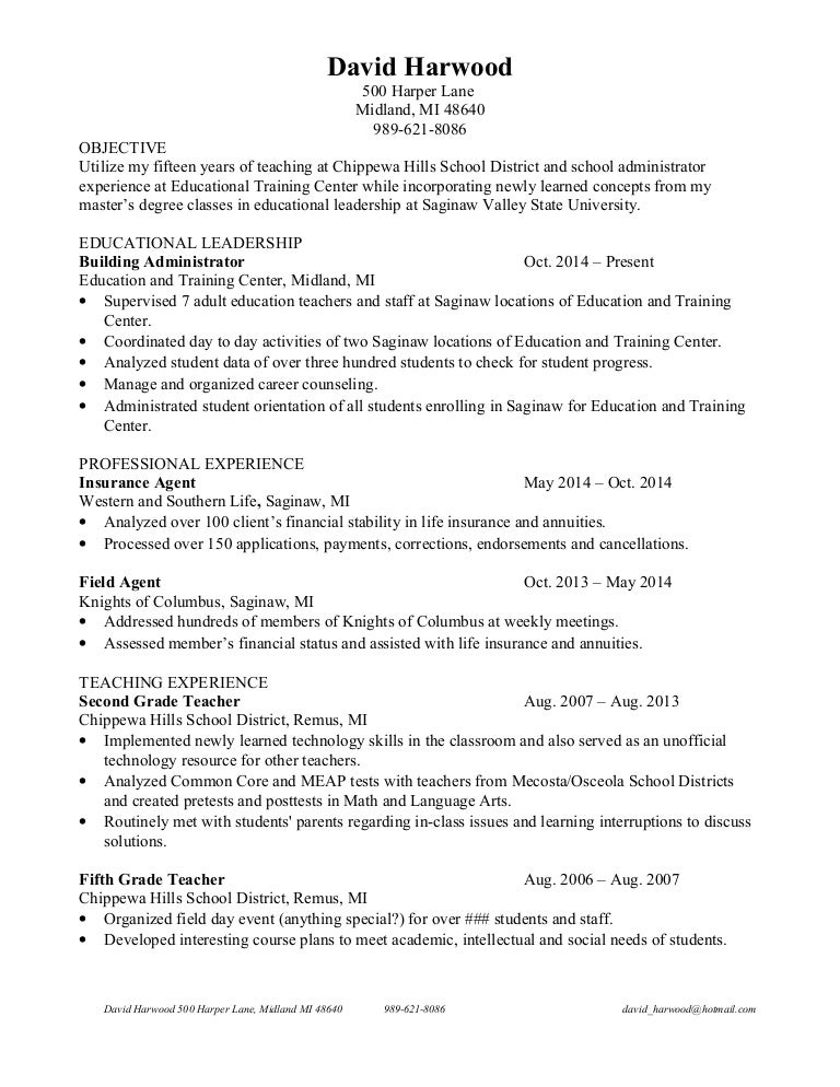David harwood resume