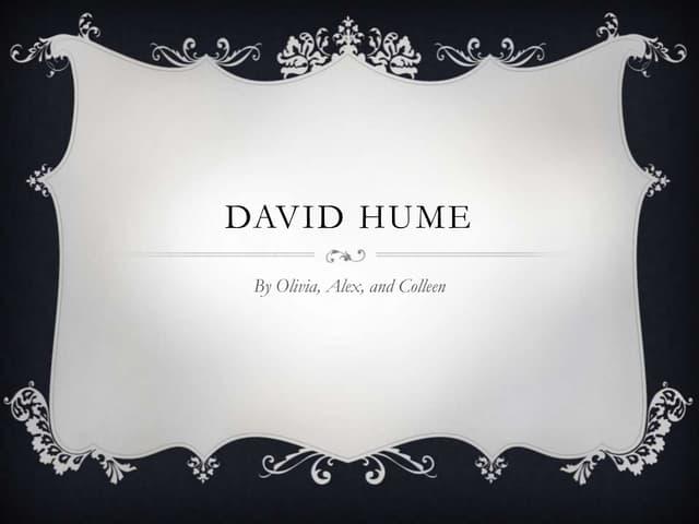 Hume La Credenza Nel Mondo Esterno : David hume edimburgo ppt video online scaricare