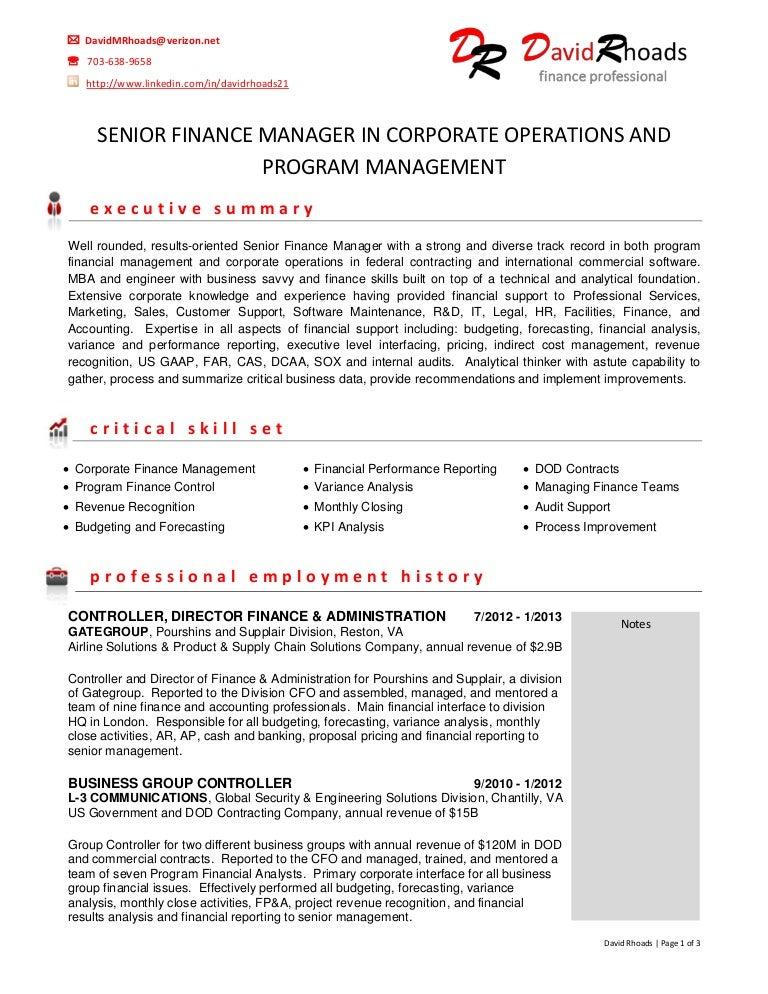 Finance Analyst   LinkedIn Finance Manager Resume samples
