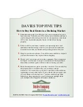 Davies Top 5 Tips: How to Buy Real Estate in a Declining Market