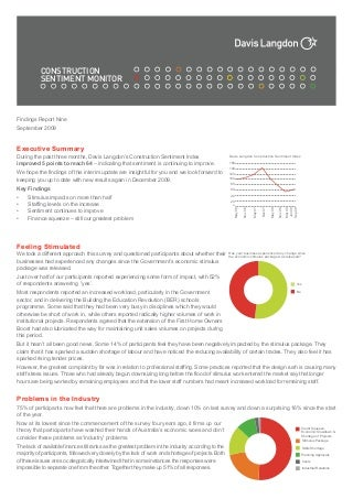 Davis Langdon Sentiment Monitor 9 - Sept 09