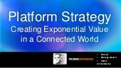 Keynote slides: Platform Strategy Creating Exponential Value  in a Connected World