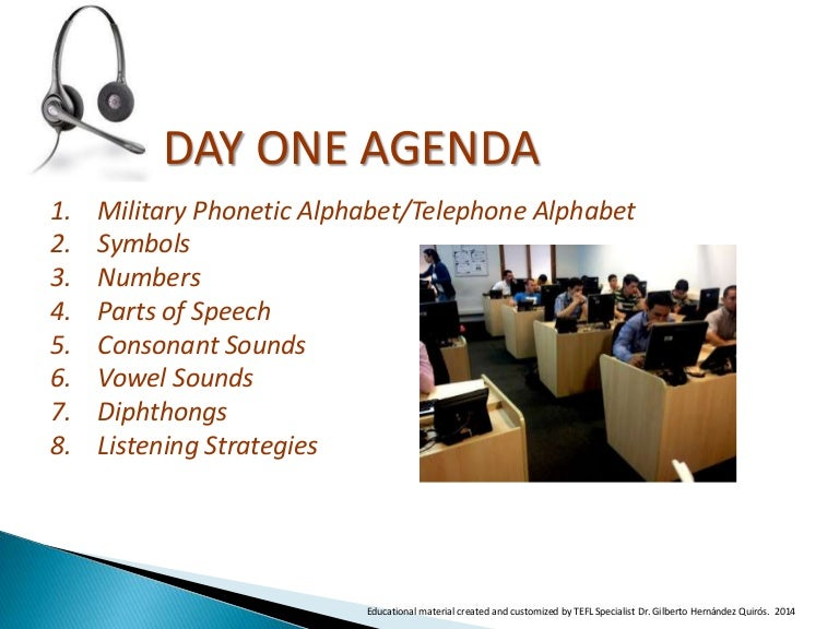 Introduction To Call Center Language Training Day 1