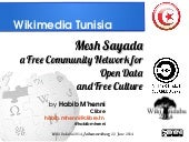 Mesh Sayada, a free community network for open data.