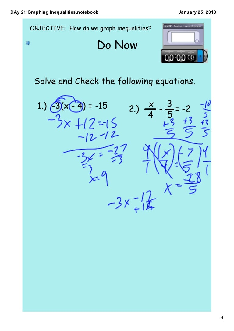 D ay 21 graphing inequalities