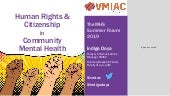 Human rights and citizenship in community mental health