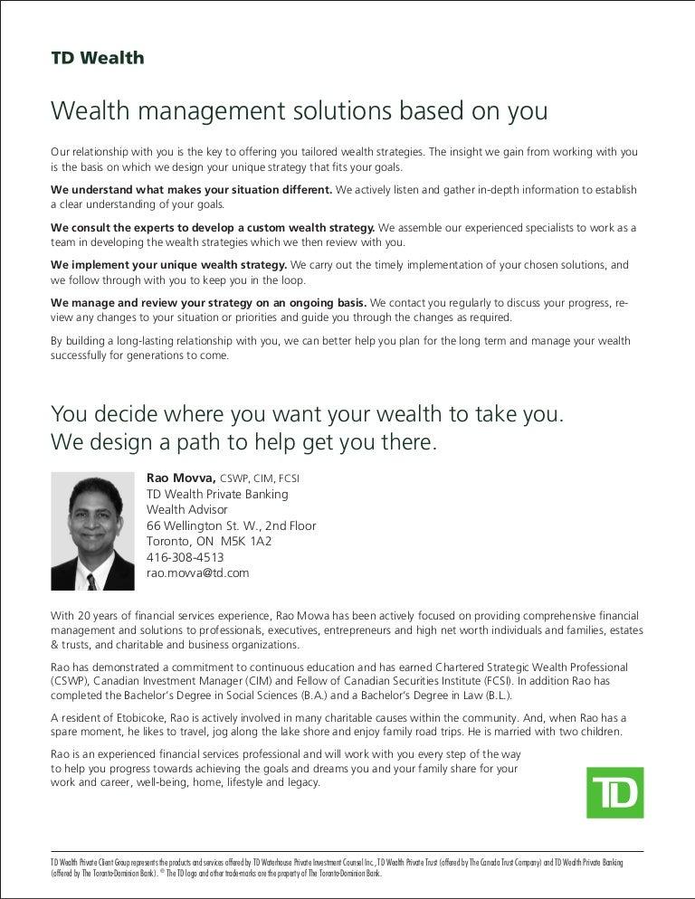 Wealth Advisor, Rao Movva-Bio