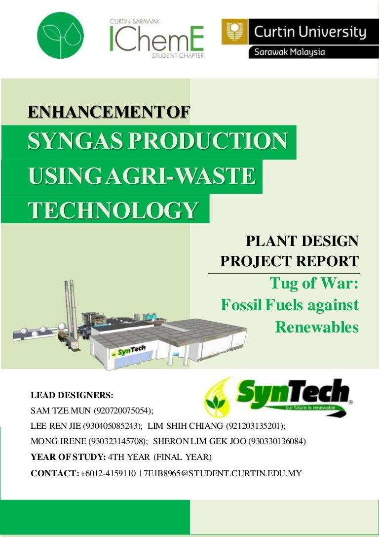 Naces Plant Design Report Syntech Curtin Sarawak