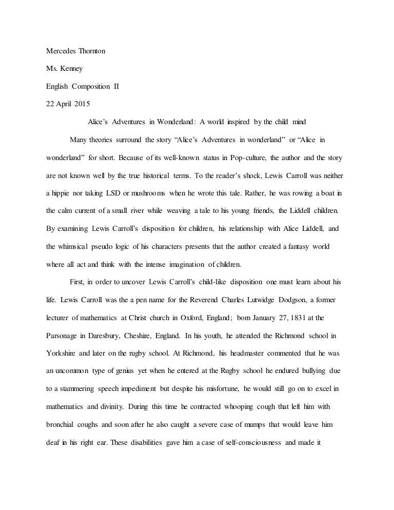 alice in wonderland theme essay