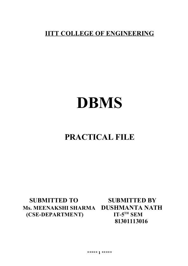 DBMS Practical File – Molarity Practice Worksheet