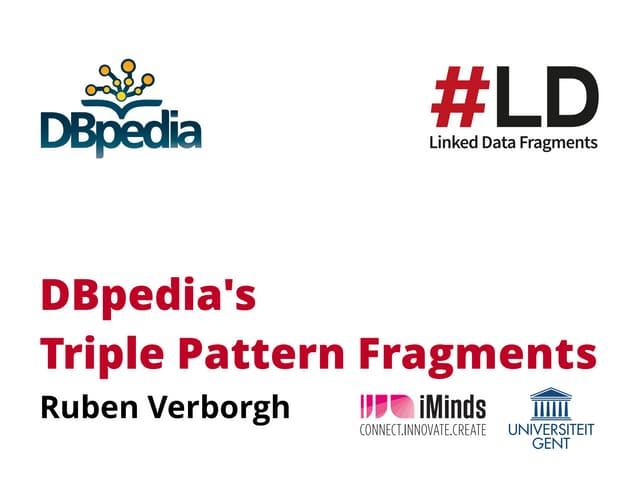 DBpedia's Triple Pattern Fragments