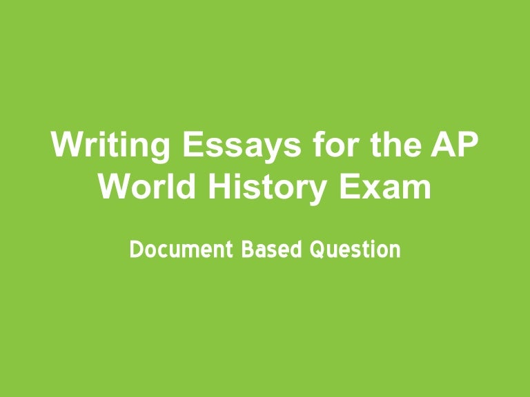 ap world history comparative essay examples