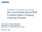 How Social CRM Can Help Address Changing Consumer Demands