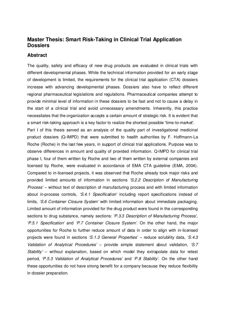 abstract master thesis