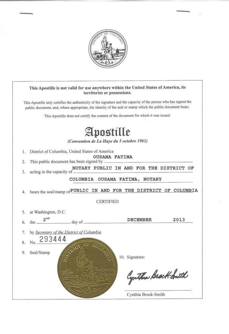 MA Bachelor Certificate