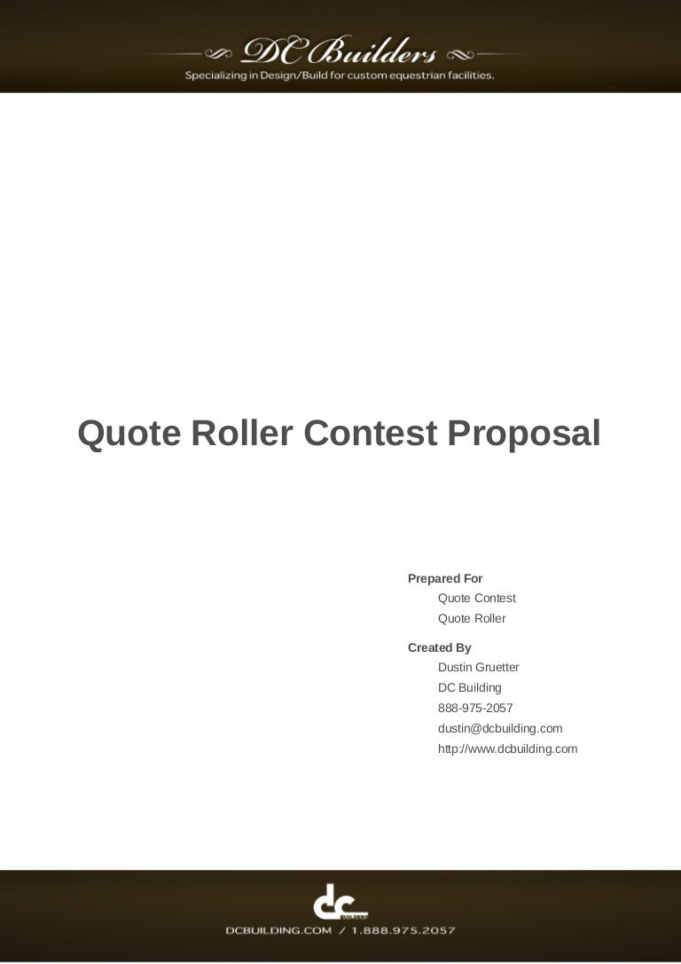 Quote Roller Sampleconstructionbusinessproposal