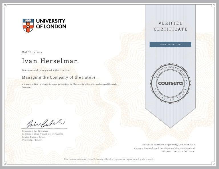 Managing company of future