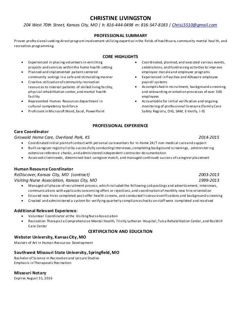 Resume 04-16-2015 - Chris
